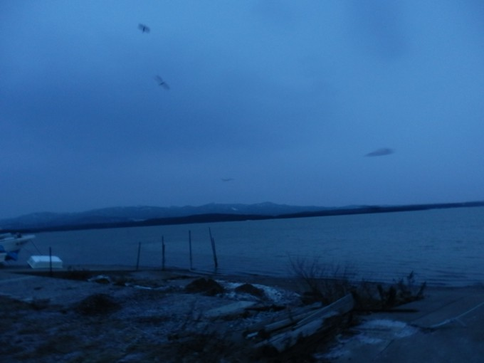 青森県十三湖 太宰治『津軽』に登場する、津軽半島北部の湖