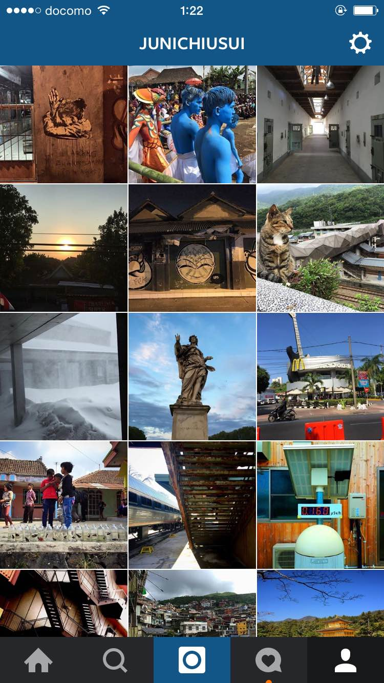 Junichi USUI's instagram with photos around the world